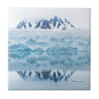 Glacier reflections, Norway Tile