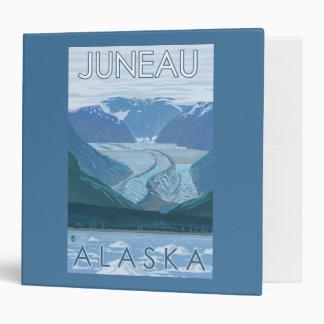 Glacier Scene - Juneau, Alaska Vinyl Binder