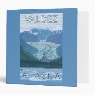 Glacier Scene - Valdez, Alaska 3 Ring Binder
