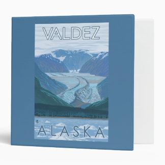 Glacier Scene - Valdez, Alaska Vinyl Binder