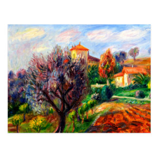 Glackens - Hillside with Olive Trees Postcard