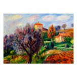 Glackens - Hillside with Olive Trees Poster