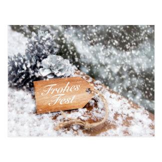"""Glad celebration"" in the snow Postcard"