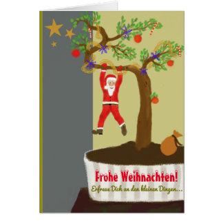 Glad Christmas! Bonsai Santa Claus Card