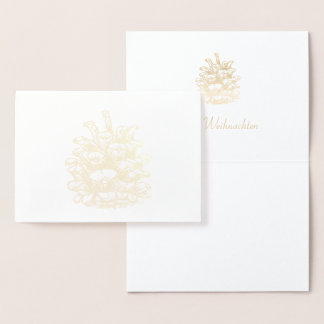 Glad Christmas golden Pine Cone I Foil Card