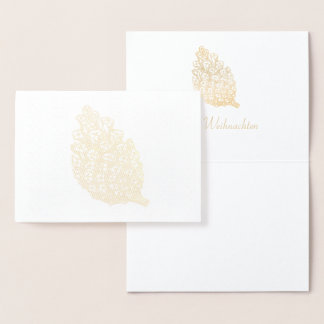 Glad Christmas golden Pine Cone II Foil Card