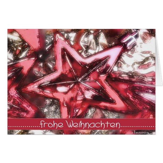 Glad Christmas, red shining star Card