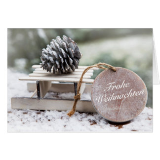 """Glad Christmas"" with carriages Card"