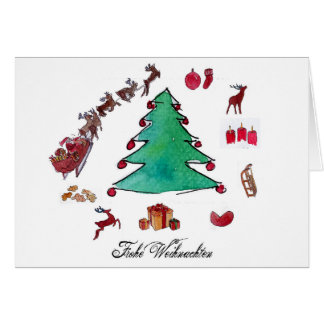 Glad Christmas with fir tree Card