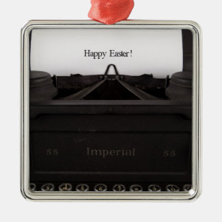Glad Easter/Happy Easter Metal Ornament