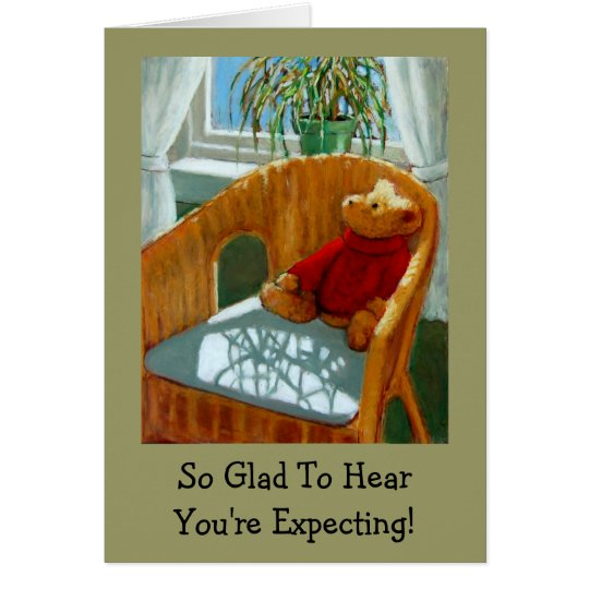 GLAD YOU'RE EXPECTING BABY CARD