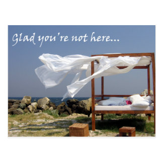 Glad You're Not Here - Get Bent Greetings Postcard