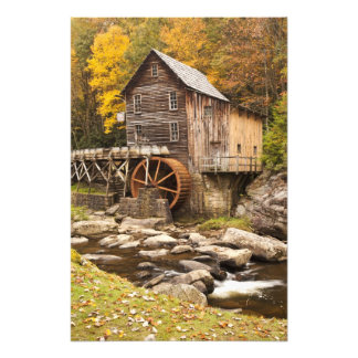 Glade Creek Grist Mill, Babcock State Park, Photo Print