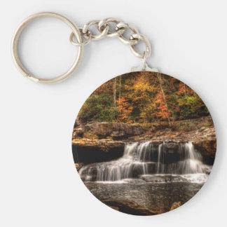 glade creek mill basic round button keychain