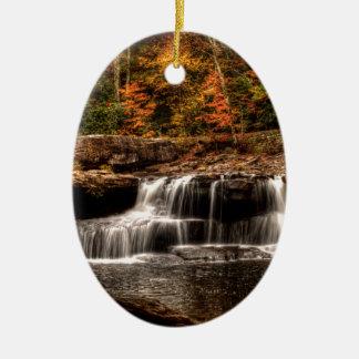 glade creek mill ceramic oval ornament