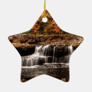 glade creek mill ceramic star ornament