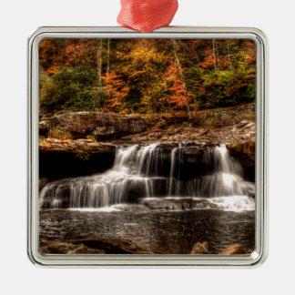 glade creek mill Silver-Colored square ornament