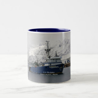 Gladiator, Fishing Trawler in Dutch Harbor, AK Two-Tone Coffee Mug