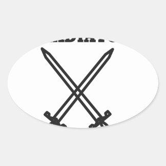 Gladiator Oval Sticker
