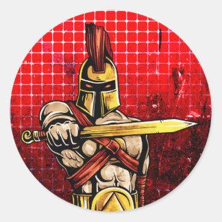 Gladiator Round Sticker