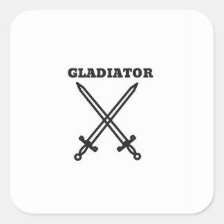 Gladiator Square Sticker