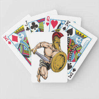 Gladiator warrior sports mascot bicycle playing cards