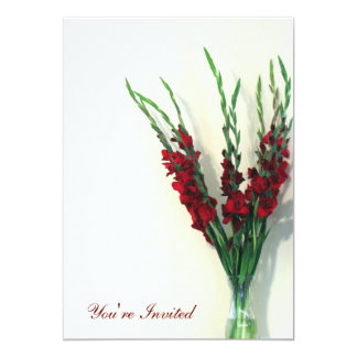 "Gladiola 5"" X 7"" Invitation Card"