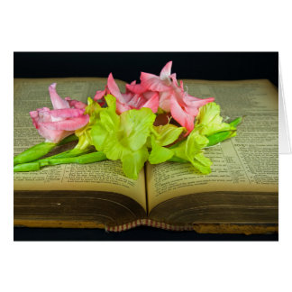 Gladiola on Bible Sympathy Card