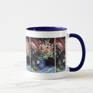 Gladiolas in a Vase Pierre Auguste Renoir Fine Art Mug