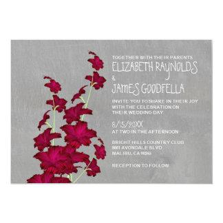 Gladiolas Wedding Invitations