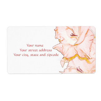 Gladiolus sketch shipping label