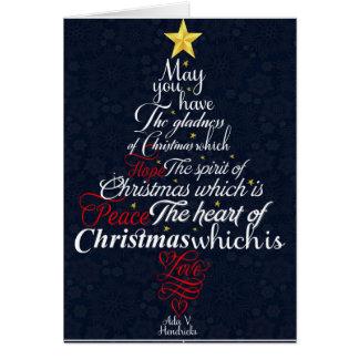 Gladness of Christmas Card