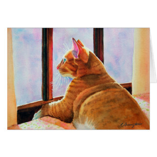 Gladys Orange Tabby Card