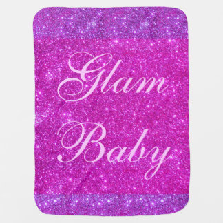 Glam Babe Baby Girl Blanket Pink Sparkly Blanky Stroller Blankets