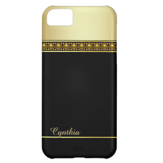 Glam Black and Gold Tone iPhone 5C Case