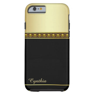 Glam Black and Gold Tone iPhone 6 Case