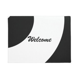 Glam Black and White Doormat