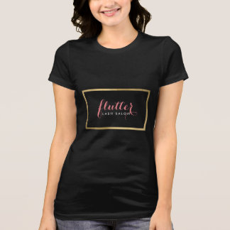 Glam Black Pink Gold Lash Salon T-Shirt