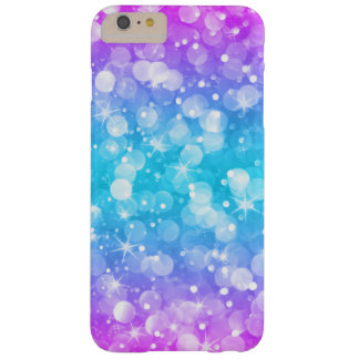 Glam Bokeh Glitter Ombre Pink & Blue GR3 Barely There iPhone 6 Plus Case