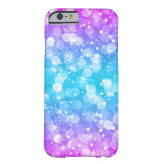 Glam Bokeh Glitter Ombre Pink & Blue GR4 Barely There iPhone 6 Case