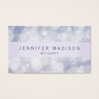 Glam Bokeh in Lavender | Business Cards
