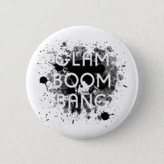 Glam Boom Bang Dark Paint Splat 2 Inch Round Button