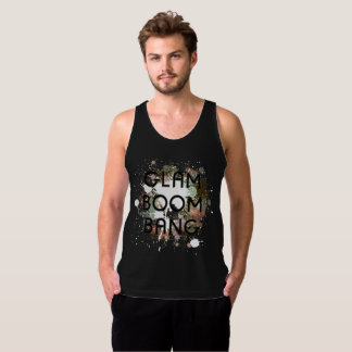 Glam Boom Bang Light Paint Splat Tank Top