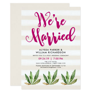 Glam Cactus | We're Married Announcement