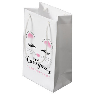 Glam Cat Birthday Party Small Gift Bag