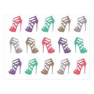 Glam Chic High Heels Custom Post Card