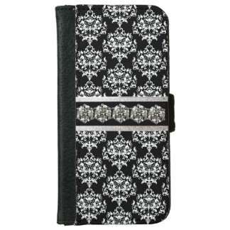 Glam Damask and Diamonds iPhone 6 Wallet Case
