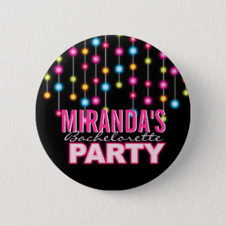 Glam Dance Lights Bachelorette Party Button