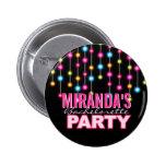 Glam Dance Lights Bachelorette Party Button