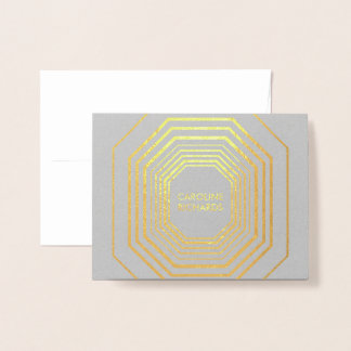 Glam Deco Gray Personalized Folded Card